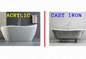 Acrylic vs. Cast Iron Tubs: What Are the Differences