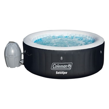 """Coleman 71"""" x 26"""" Portable Spa Inflatable 4-Person Hot Tub, Black"""