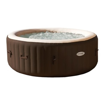Intex PureSpa 4Person Inflatable Bubble Jet Spa Brown