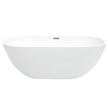 "MAYKKE Barnet 61"" Modern Oval Freestanding Bathtub"