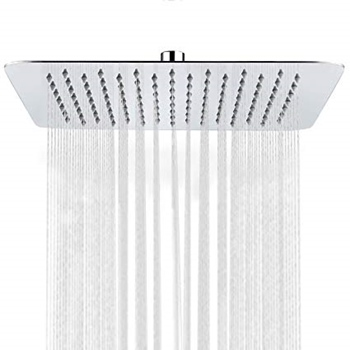 SR SUN RISE Luxury 12 Inch Large Square Stainless-Steel Rainfall Showerhead