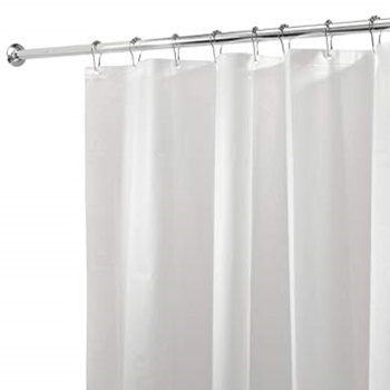 iDesign PEVA Plastic Shower Curtain Liner