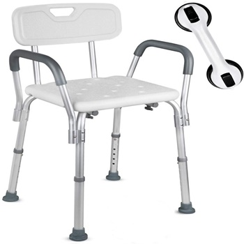 Dr. Maya Adjustable Shower Chair with Assist Shower Handle