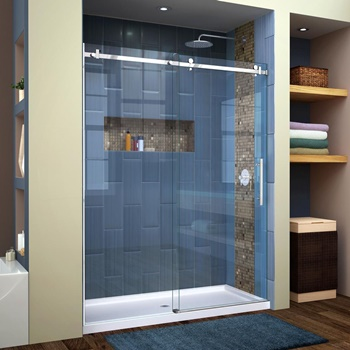 DreamLine Enigma Air 56-60 in. W x 76 in. H Frameless Sliding Shower Door