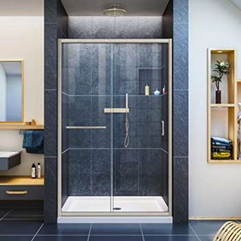 DreamLine Infinity-Z 44-48 in. W x 72 in. H Semi-Frameless Sliding Shower Door
