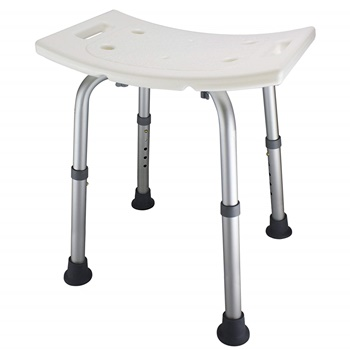 Ez2care Adjustable Lightweight Shower Stool