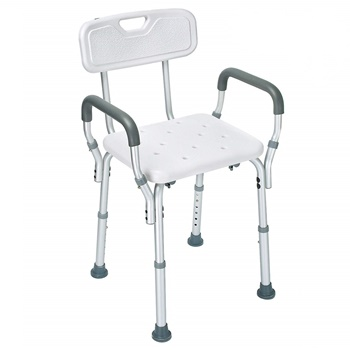 Health Line Shower Chair Bath Seat Bench with Removable Back & Arms