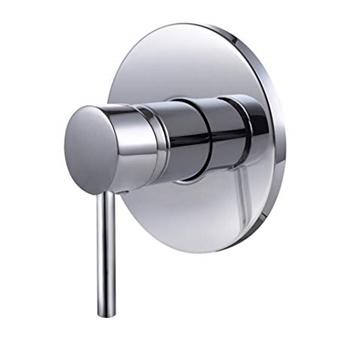 KES Bathroom Single Handle Mixing Valve Body and Trim Round