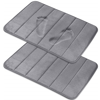 Magnificent [2-Pack] Memory Foam Bath Mat