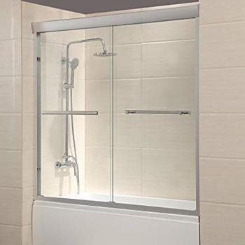 "Mecor 60""W x 57.4""H Framed Bathtub Sliding Shower Door"