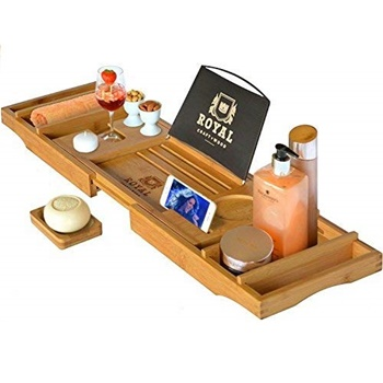 Royal Craft Wood Luxury Bathtub Caddy Tray