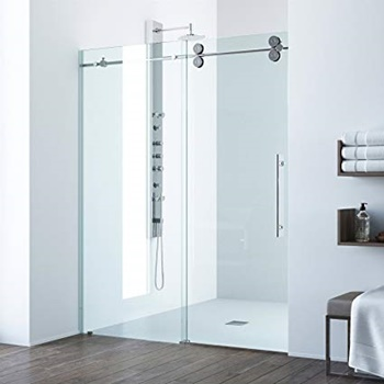 VIGO VG6041CHCL6074 Elan 56 – 60 Inch Sliding Frameless Shower Door